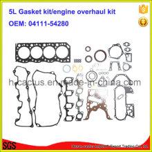 5L 04111-54280 Kit de reparação de kits de reconstrução do motor Kit de vedação do motor para Toyota