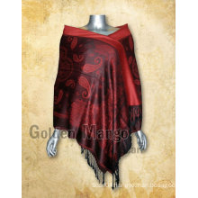 Fashionable paisley design pashmina shawl