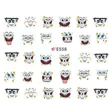 Hot European and American Popular Nail Stickers Warm Color Cute Bunny Cat Series Nail Stickers