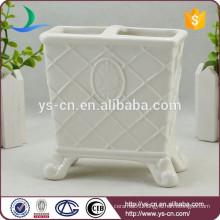 YSb50070-01-th Royal elegance design ceramic bath toothbrush holder