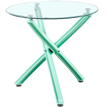 Wholesale cheap China furniture modern scandinave cross leg plastic class dining table