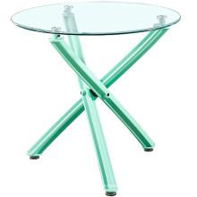 Atacado barato China mobília moderna scandinave cross leg mesa de jantar de classe de plástico