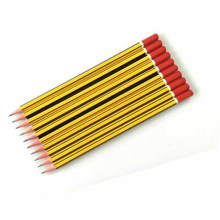 Strip Barrel Hb Pencil for School Stationery