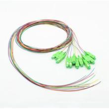 Разъем SC/APC 12 Покрашенный кабель оптического волокна 0.9 мм