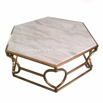 new design cheap stainless steel coffee table round side table