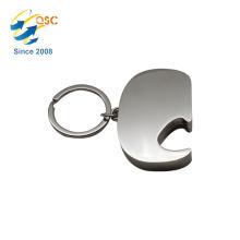 Billige personalisierte benutzerdefinierte leere Schlüsselanhänger Metallöffner Flasche