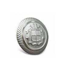 Bouton personnalisé, bouton en métal plaqué argent (GZHY-KA-091)