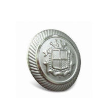 Custom Button, Silver Plated Metal Button (GZHY-KA-091)