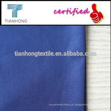 PU impermeável revestido pedaço de tingimento de tecido de algodão para blusões