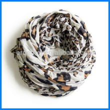 Women viscose russian scarf leopard printing