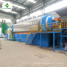No Mosquito Continuous Waste Tyre/Rubber Recycling Machine With Engineer Train and Installation