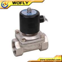12v / 24v / 110v / 220v acero inoxidable material agua calentador válvula solenoide media presión y temperatura normal