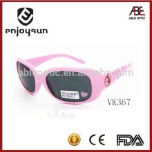 Rosa cor de óculos de sol de plástico infantil atacado Alibaba