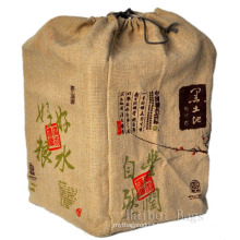 Jute Drawstring Wine Bag (hbjw-17)