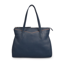 Large Hailey Crossgrain Leather Shopping Shoulder Bag