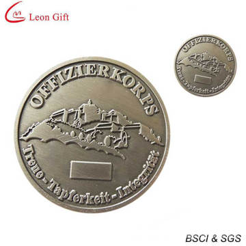 High Quality Metal Silver Challenge Coin with Serial Number