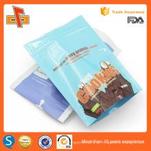 La calidad de la FDA de plástico galleta Snack Food Stand up bolsa de embalaje Made in China