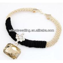 Alliage de mode avec collier de collier en gros perles JN19