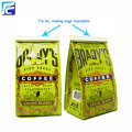 Custom printing coffee packaging bags with tin tie