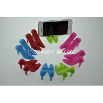 High Heel Shoes Stand Holder Aksesoris Telepon Silicone