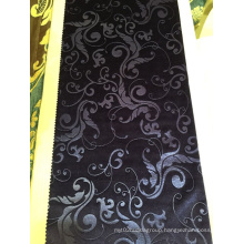 Wholesale European Hotel Polyester Material 3D Embossed Velvet Curtain Fabric