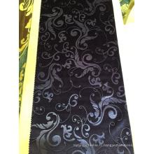 Tissu en gros européen de polyester matériel 3D de relief de tissu de rideau en velours
