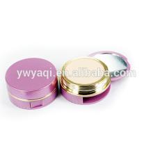 Ronda elegante con espejo personalizado polvo compacto amortiguador de aire