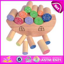 2014 Holz Balance Intelligenz DIY Spielzeug für Kind, schöne Kinder Balance Block Spielzeug, pädagogisches Gehirn Spielzeug Baby Block Spielzeug W11f030