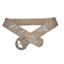 NEW!!!!!Circular agio with double-row rivets PU buckles for belts