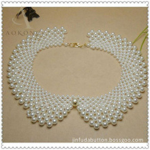 Pretty Pearl Beads Lace Collar for Girls Dresses