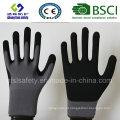 13 Gauge Nylon Liner, Nitrile Coating, Sandy Finish Safety Work Gloves
