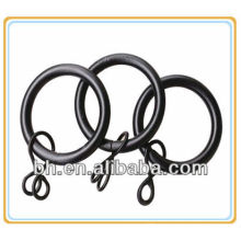black decorative metal shower curtain rings