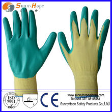 different color nitrile coated 13 gauge nylon gloves