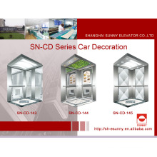 Elevator Cabin with Hairline Side Panel (SN-CD-143)
