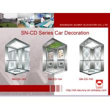 Cabine do elevador com painel lateral da linha fina (SN-CD-143)