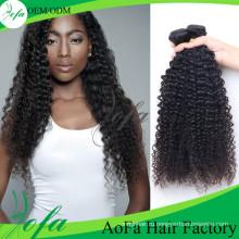 Профессиональный Продукт Волос Девственницы, Странный Вьющиеся Выдвижение Человеческих Волос