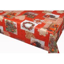 Nappe de PVC bon marché de conception de Noël