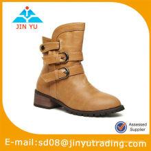 Sassy Tan Lady Platform Bottes Chaussures