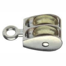 Metal Hardware Zinc Alloy Pulleys Rigid Eye with Double Wheel