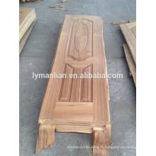 porte en bois de placage / peau de porte en bois de teck / peau de porte moulée en mélamine