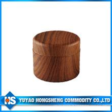 Frasco de cor dupla de madeira com tampa interna
