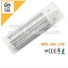 G24 / G23 / E27 Epistar Chip 9w LED PL Light Blanc chaud / Cool White pour Choix