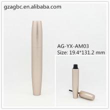 Elegante & vazio alumínio redondo tubo de rímel AG-YX-AM03, embalagens de cosméticos do AGPM, cores/logotipo personalizado
