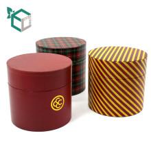 Manipulação de impressão de laminação brilhante e Reciclagem de materiais Recurso caixa de presente de Natal de cilindro redondo