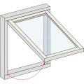 Vidrio templado doble estándar indio para ventana de aluminio suspendida simple
