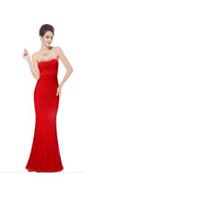 Elegant retro temperament waisted bra set wedding party will drill Yingbin evening dress