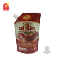 Chilli Sauce Packaging Spouted Stand Up Pouch