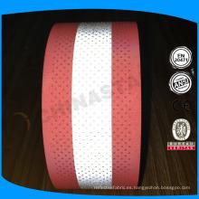 Lavable 100% algodón fr tratado tejido reflectante perforado