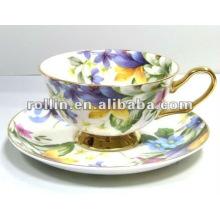 Buena calidad china chino porcelana taza de té conjunto