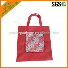 carteira reutilizável dobrável saco de compras para compras e promoção